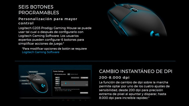 Logitech G203 Gaming Software