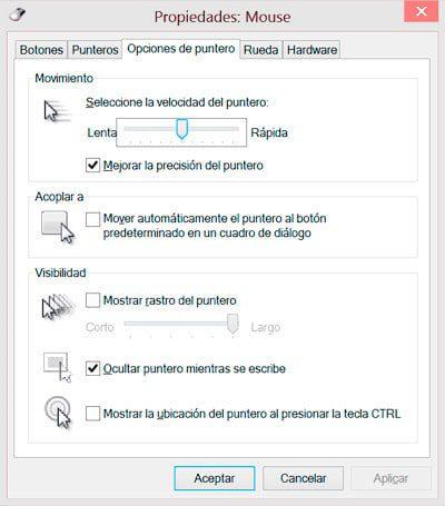 configurar mouse windows
