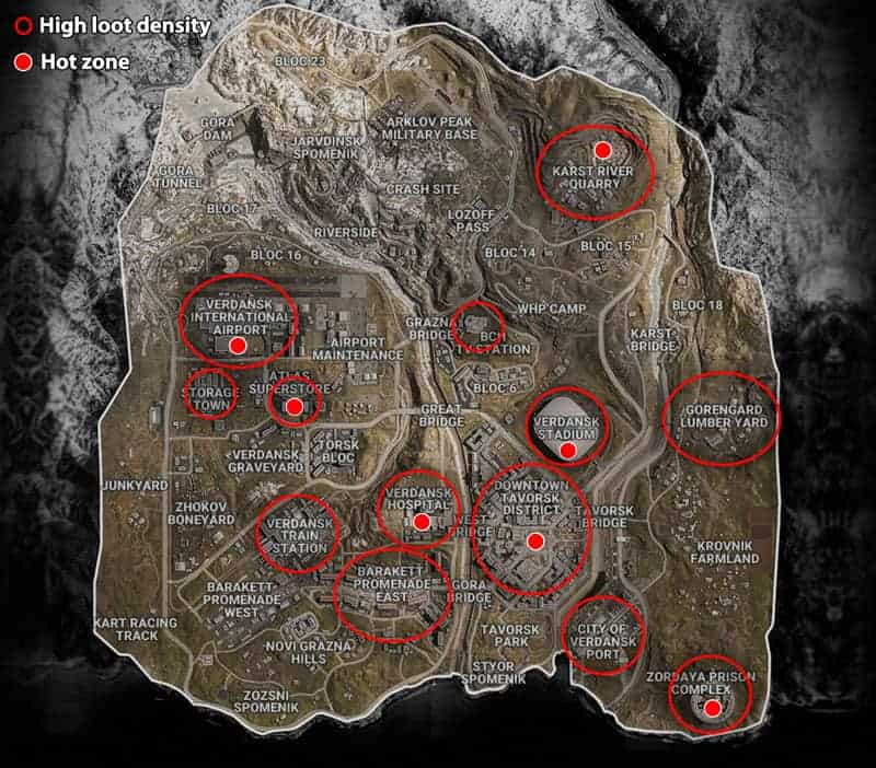 Mapa Warzone Verdansk